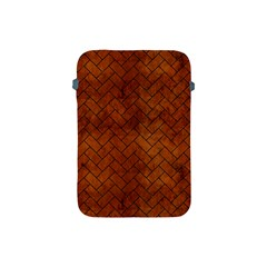 Brick2 Black Marble & Brown Burl Wood (r) Apple Ipad Mini Protective Soft Case by trendistuff