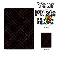 Brick2 Black Marble & Brown Burl Wood Multi Purpose Cards (rectangle) by trendistuff