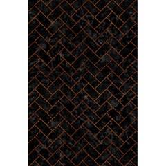 Brick2 Black Marble & Brown Burl Wood 5 5  X 8 5  Notebook by trendistuff