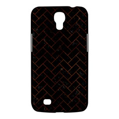 Brick2 Black Marble & Brown Burl Wood Samsung Galaxy Mega 6 3  I9200 Hardshell Case by trendistuff
