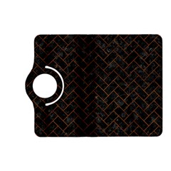 Brick2 Black Marble & Brown Burl Wood Kindle Fire Hd (2013) Flip 360 Case by trendistuff