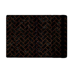 Brick2 Black Marble & Brown Burl Wood Apple Ipad Mini 2 Flip Case by trendistuff