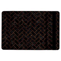 Brick2 Black Marble & Brown Burl Wood Apple Ipad Air 2 Flip Case by trendistuff