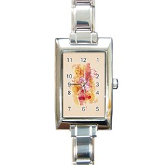 Paris With Watercolor Rectangle Italian Charm Watch