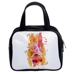 Paris   Mon Amour   With Watercolor Classic Handbags (2 Sides) by TastefulDesigns