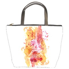 Paris   Mon Amour   With Watercolor Bucket Bags