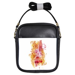 Paris   Mon Amour   With Watercolor Girls Sling Bags by TastefulDesigns