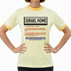 Israel Home Temple Of God Women s Fitted Ringer T Shirts