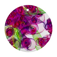 Violet Round Ornament (Two Sides)  by SugaPlumsEmporium