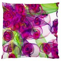 Violet Large Flano Cushion Case (one Side)