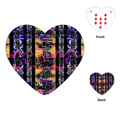 Urban Tribal Stripes Playing Cards (heart)  by dflcprints