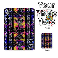 Urban Tribal Stripes Playing Cards 54 Designs  by dflcprints