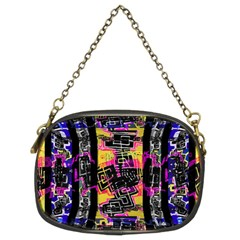 Urban Tribal Stripes Chain Purses (two Sides)  by dflcprints