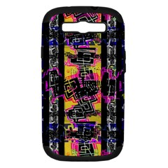 Urban Tribal Stripes Samsung Galaxy S Iii Hardshell Case (pc+silicone) by dflcprints