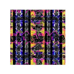 Urban Tribal Stripes Small Satin Scarf (square)  by dflcprints