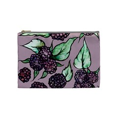 Black Raspberry Fruit Purple Pattern Cosmetic Bag (medium)  by BubbSnugg