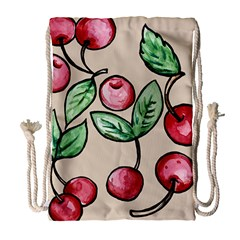 Cherry Pattern Drawstring Bag (large) by BubbSnugg