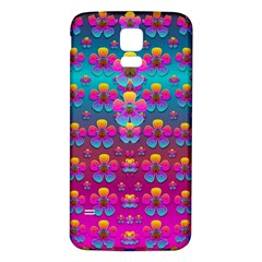 Freedom Peace Flowers Raining In Rainbows Samsung Galaxy S5 Back Case (white) by pepitasart