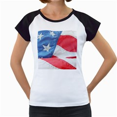 Folded American Flag Women s Cap Sleeve T by StuffOrSomething