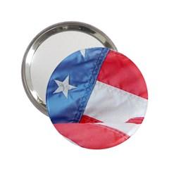 Folded American Flag 2 25  Handbag Mirrors