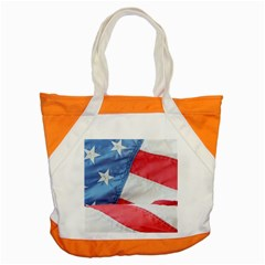 Folded American Flag Accent Tote Bag by StuffOrSomething