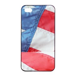 Folded American Flag Apple Iphone 4/4s Seamless Case (black) by StuffOrSomething