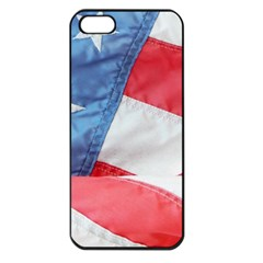 Folded American Flag Apple Iphone 5 Seamless Case (black) by StuffOrSomething