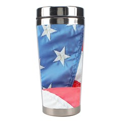 Folded American Flag Stainless Steel Travel Tumblers by StuffOrSomething