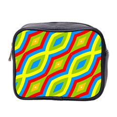 Colorful Chains                    Mini Toiletries Bag (two Sides) by LalyLauraFLM