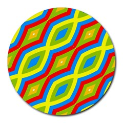 Colorful Chains                    			round Mousepad by LalyLauraFLM