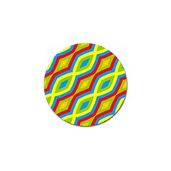 Colorful Chains                    			golf Ball Marker by LalyLauraFLM