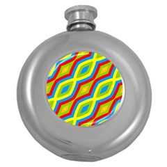 Colorful Chains                    			hip Flask (5 Oz) by LalyLauraFLM