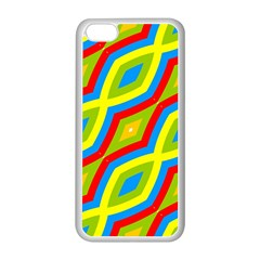 Colorful Chains                    			apple Iphone 5c Seamless Case (white) by LalyLauraFLM