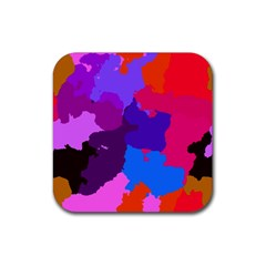 Spots                     			rubber Square Coaster (4 Pack by LalyLauraFLM