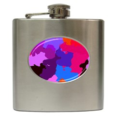 Spots                     			hip Flask (6 Oz) by LalyLauraFLM