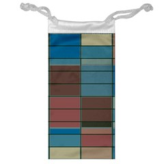Rectangles In Retro Colors Pattern                      Jewelry Bag by LalyLauraFLM