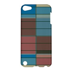 Rectangles in retro colors pattern                      Apple iPod Touch 5 Hardshell Case by LalyLauraFLM