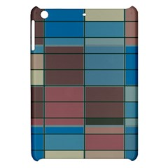 Rectangles In Retro Colors Pattern                      apple Ipad Mini Hardshell Case by LalyLauraFLM