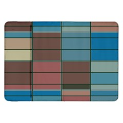 Rectangles In Retro Colors Pattern                      			samsung Galaxy Tab 8 9  P7300 Flip Case by LalyLauraFLM