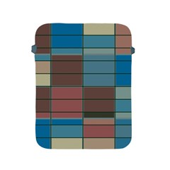 Rectangles In Retro Colors Pattern                      apple Ipad 2/3/4 Protective Soft Case by LalyLauraFLM