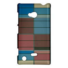 Rectangles in retro colors pattern                      			Nokia Lumia 720 Hardshell Case by LalyLauraFLM