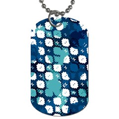 Blue Texture                       			dog Tag (one Side) by LalyLauraFLM