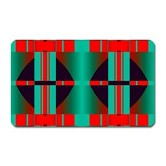 Vertical Stripes And Other Shapes                        magnet (rectangular) by LalyLauraFLM
