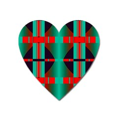 Vertical Stripes And Other Shapes                        			magnet (heart) by LalyLauraFLM
