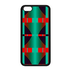 Vertical Stripes And Other Shapes                        			apple Iphone 5c Seamless Case (black) by LalyLauraFLM