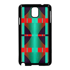 Vertical Stripes And Other Shapes                        			samsung Galaxy Note 3 Neo Hardshell Case (black) by LalyLauraFLM