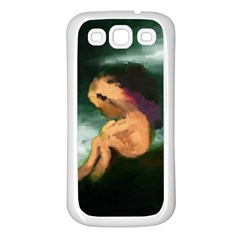 Hand Painted Lonliness Illustration Samsung Galaxy S3 Back Case (white)