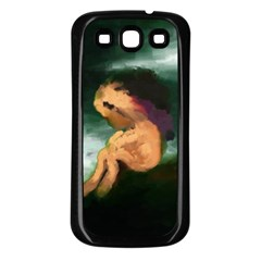 Hand Painted Lonliness Illustration Samsung Galaxy S3 Back Case (black)