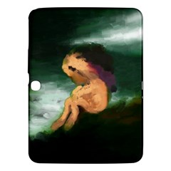 Hand Painted Lonliness Illustration Samsung Galaxy Tab 3 (10 1 ) P5200 Hardshell Case