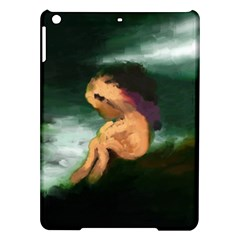 Hand Painted Lonliness Illustration iPad Air Hardshell Cases by TastefulDesigns